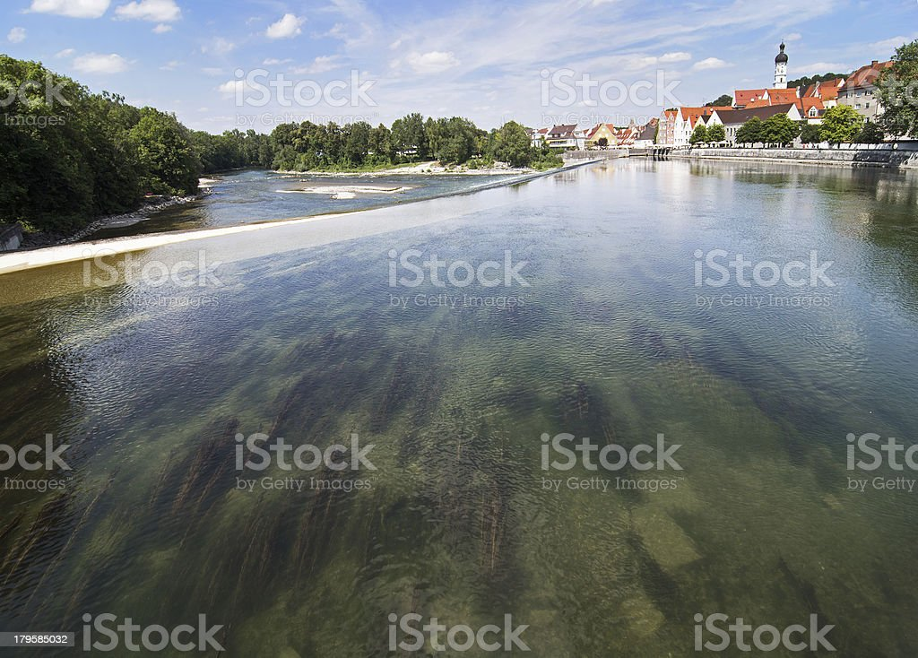 River Lech in Landsberg royalty-free stock photo