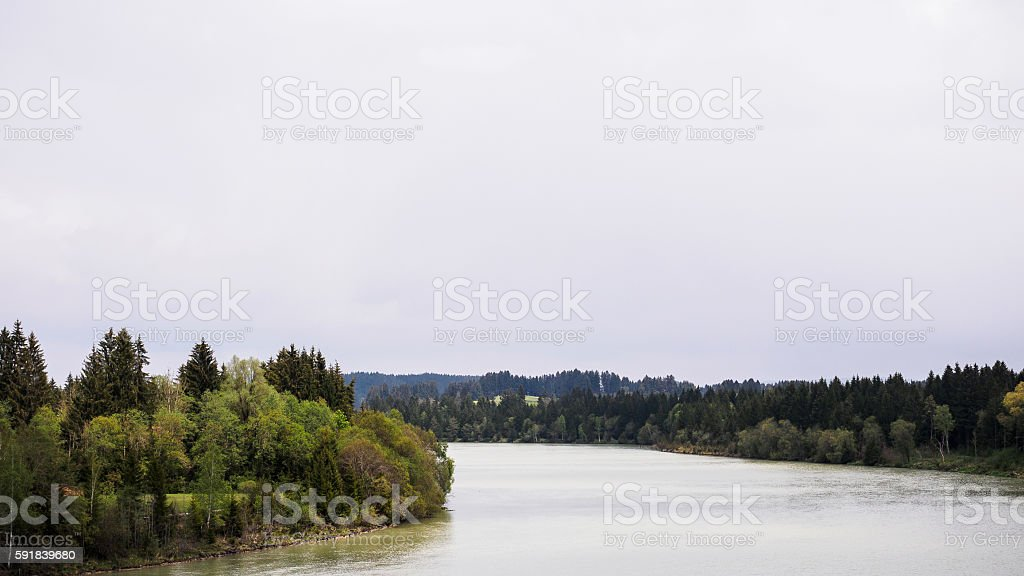 River Lech stock photo