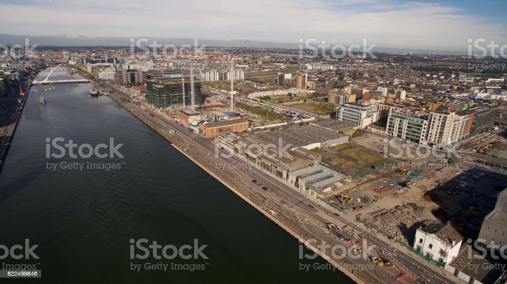River Liffey and Northside, Dublin stock photo