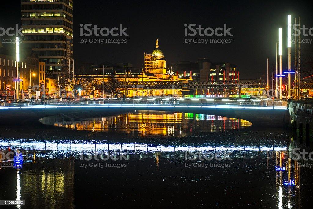 River Liffey, Dublin, Ireland royalty-free stock photo
