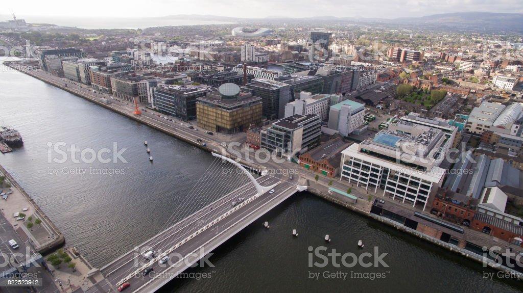 River Liffey, Dublin stock photo