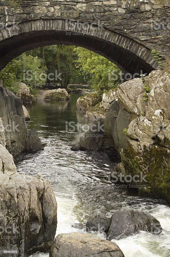 River Llugwy, Betws-y-Coed royalty-free stock photo