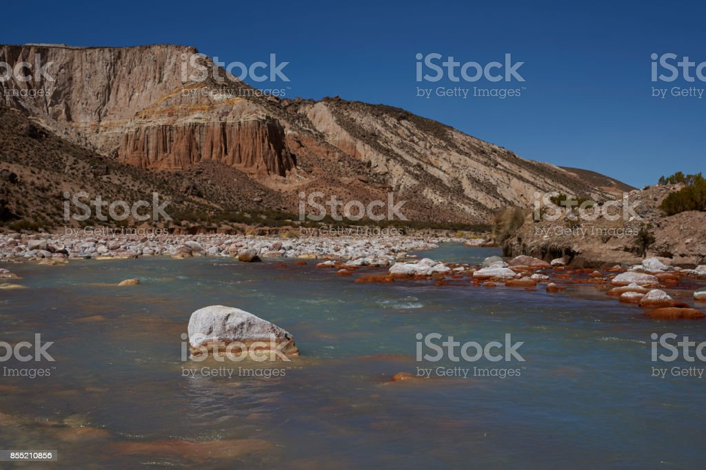 River Lluta on the Altiplano stock photo