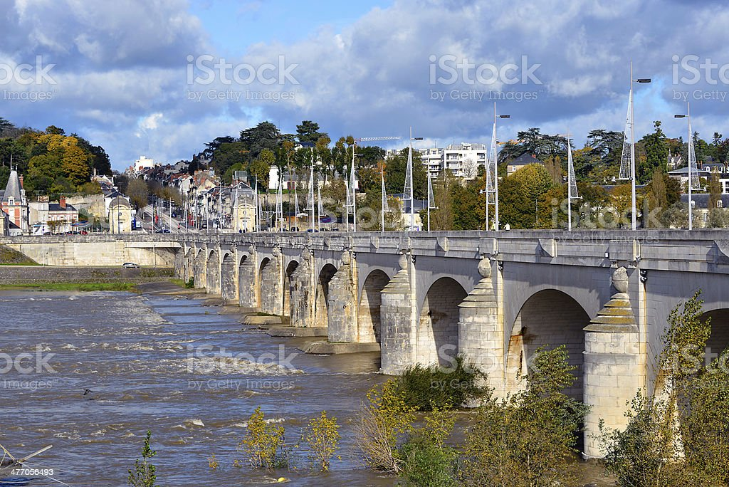 River Loire at Tours in France stock photo