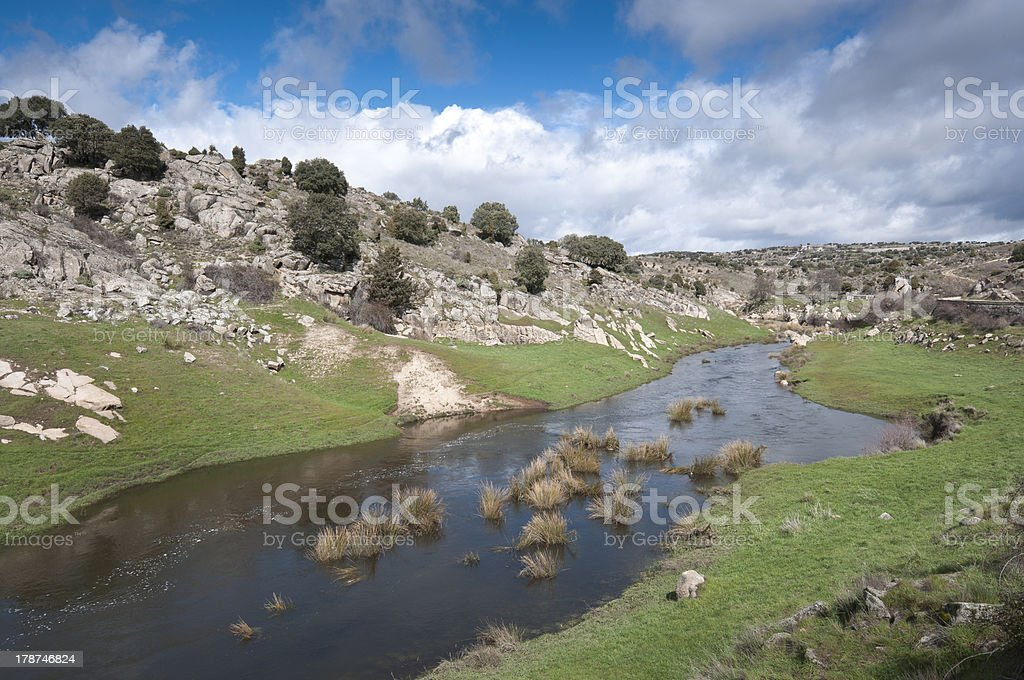 River Manzanares royalty-free stock photo