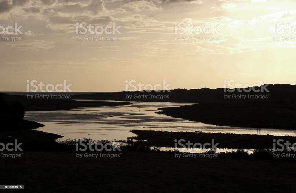 River meets the sea royalty-free stock photo