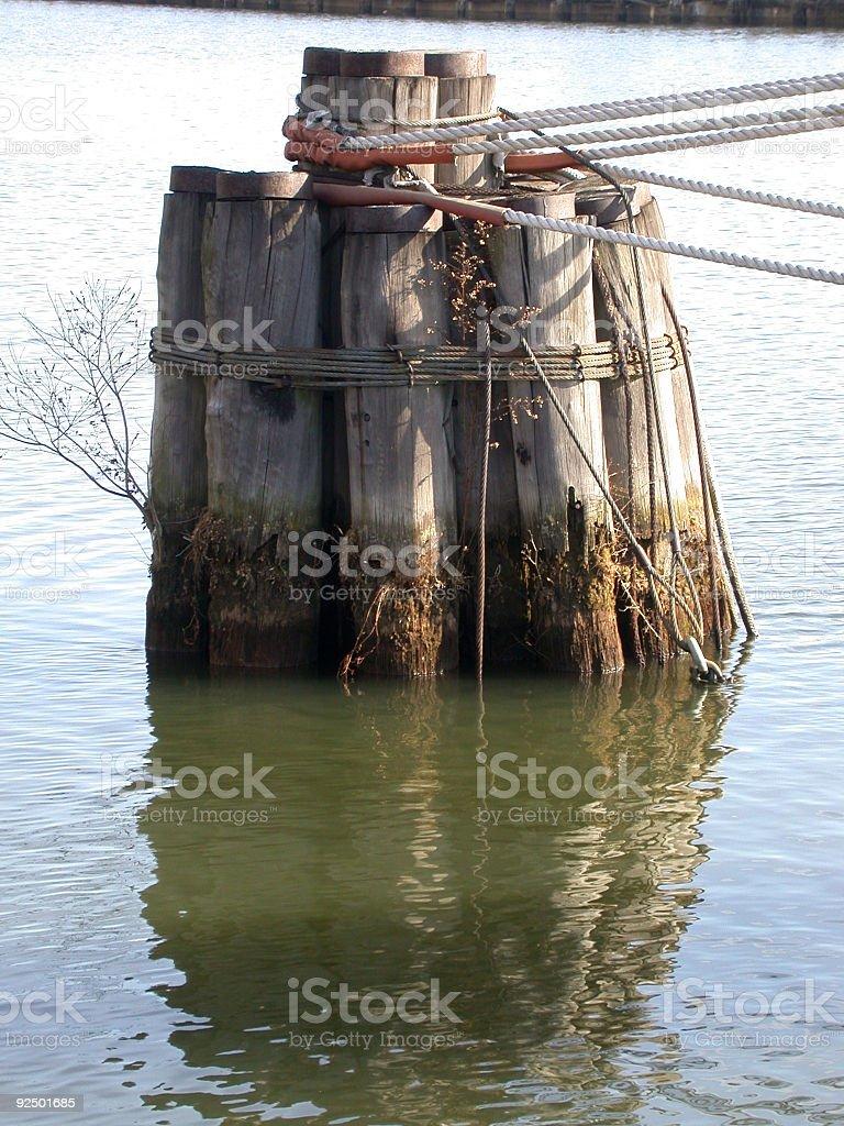 Fluss-Liegeplatz Lizenzfreies stock-foto