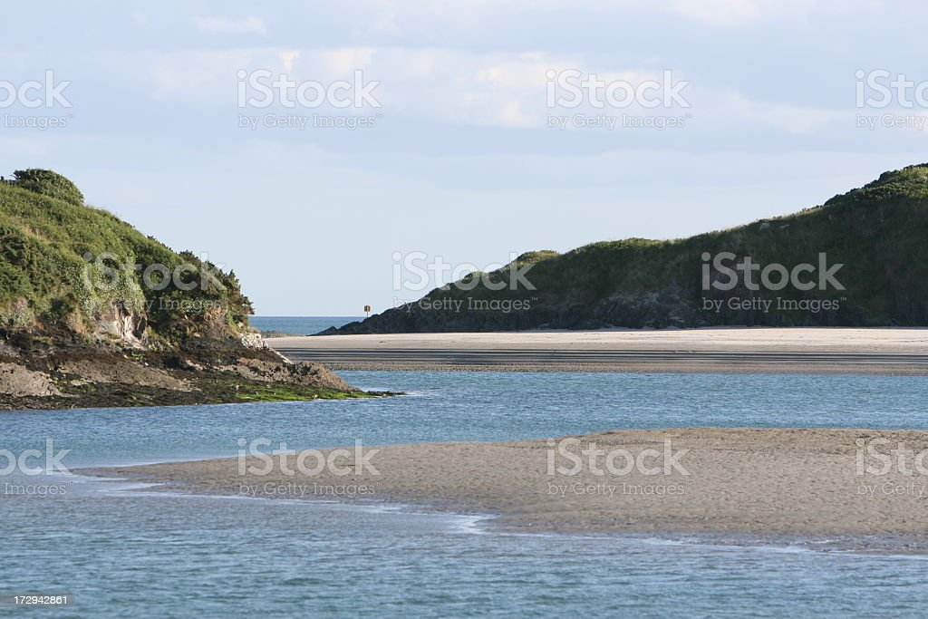 river mouth, Roscarbery, County Cork, Ireland stock photo