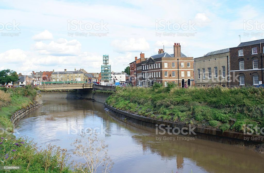 River Nene in North Brink, Wisbech England stock photo