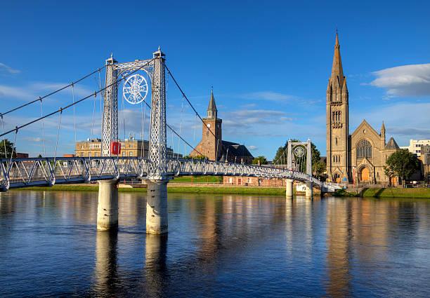River Ness Footbridge, Inverness stock photo