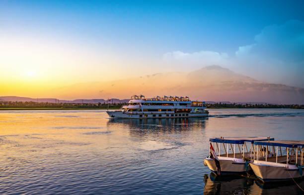 River Nile and ship