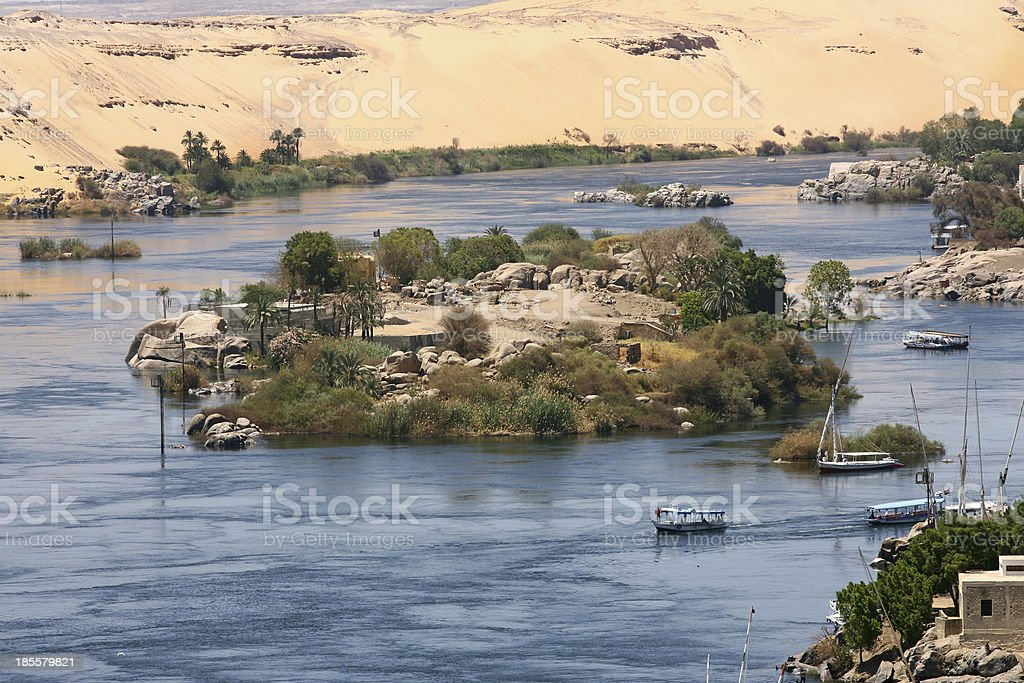 River Nile in Egypt royalty-free stock photo