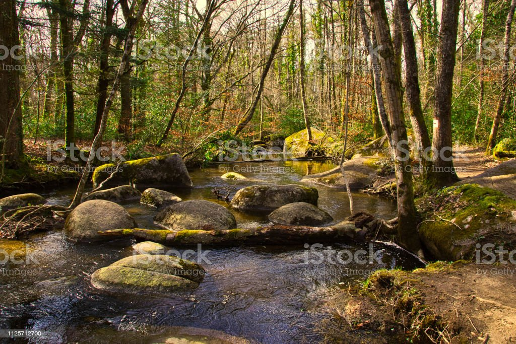River of boulders stock photo