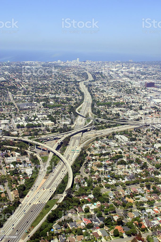 River of Freeway royalty-free stock photo