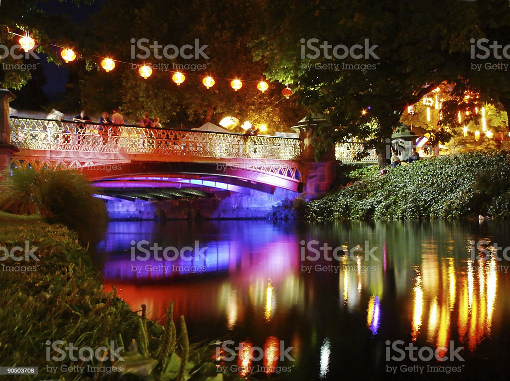 river of lights stock photo