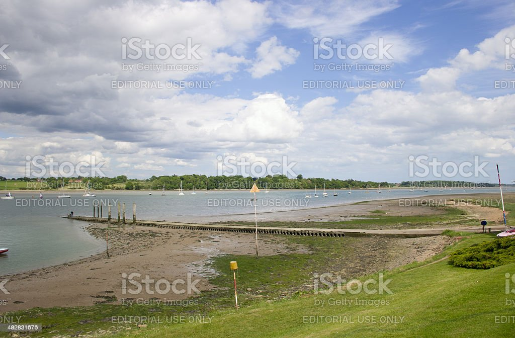 River Orwell from Royal Harwich Yacht Club, Suffolk stock photo