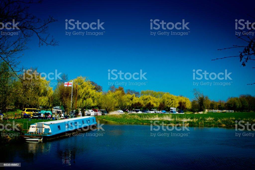 River Ouse at Huntingdon stock photo