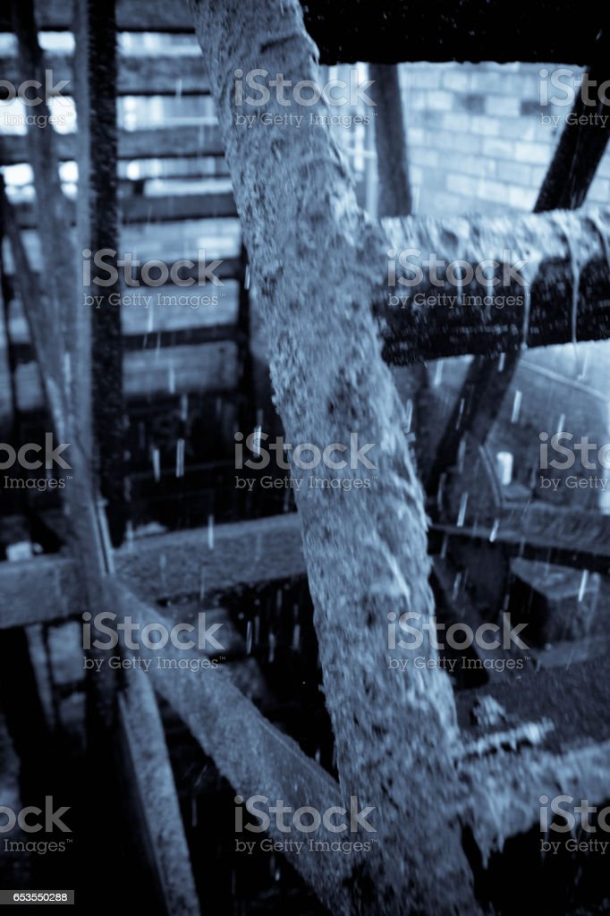 River Ouse water mill stock photo