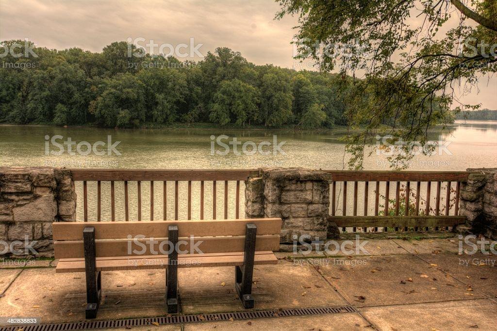 River Overlook stock photo
