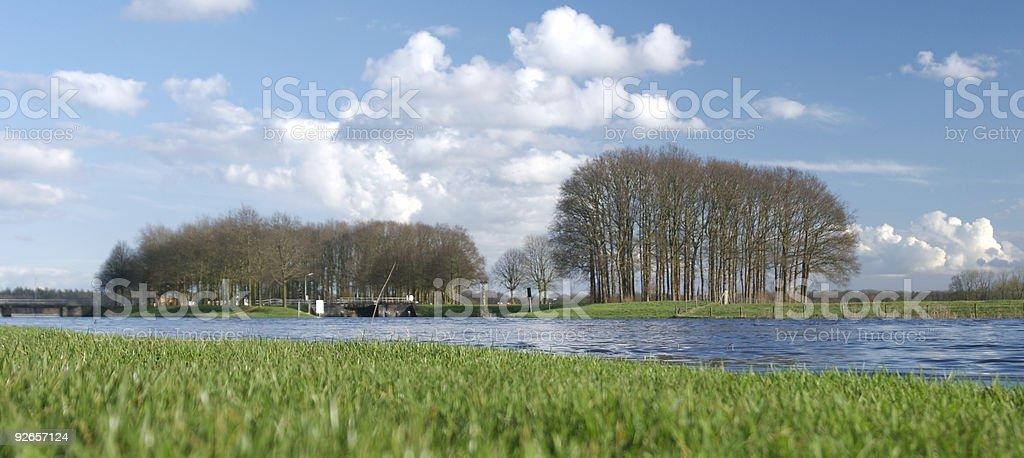 River Panorama stock photo