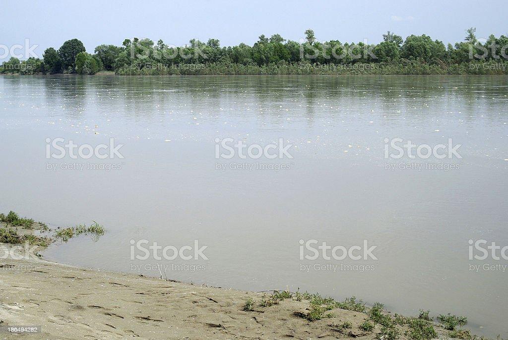 River Po, Italy stock photo