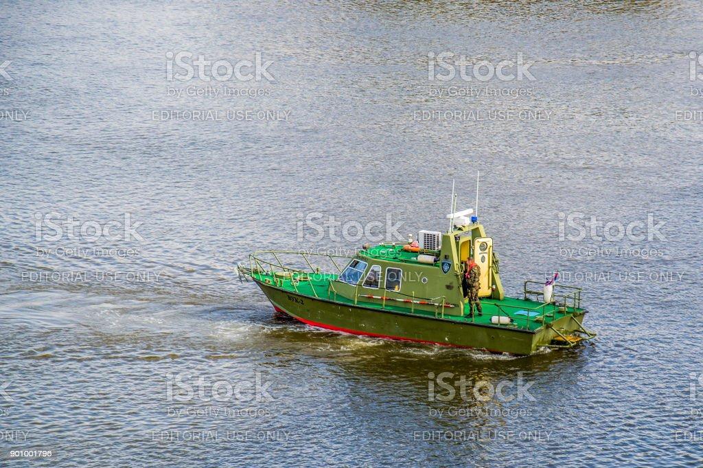 River police and River Navy in Belgrade stock photo