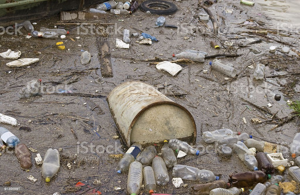 River pollution royalty-free stock photo