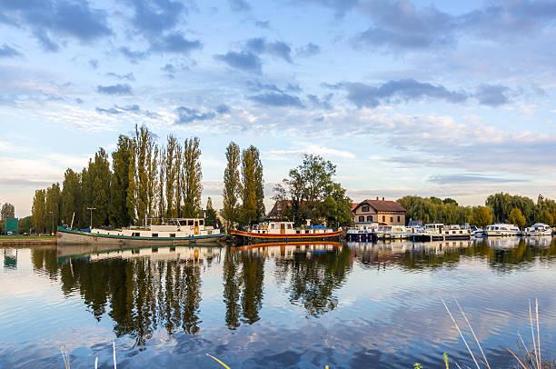 River port in Saverne, Alsase, France River port in Saverne, Alsase, France marne stock pictures, royalty-free photos & images