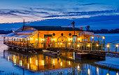 istock River raft restaurant and bar on the Danube river in Belgrade, Serbia 1287090956