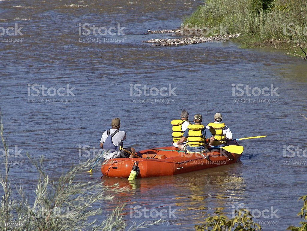 River Rafters royalty-free stock photo