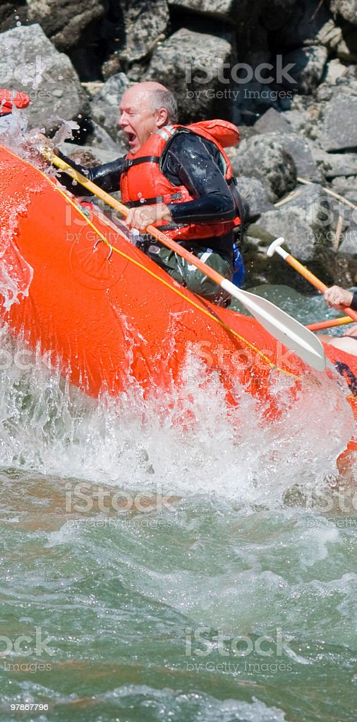 River Rafting Excitement royalty-free stock photo