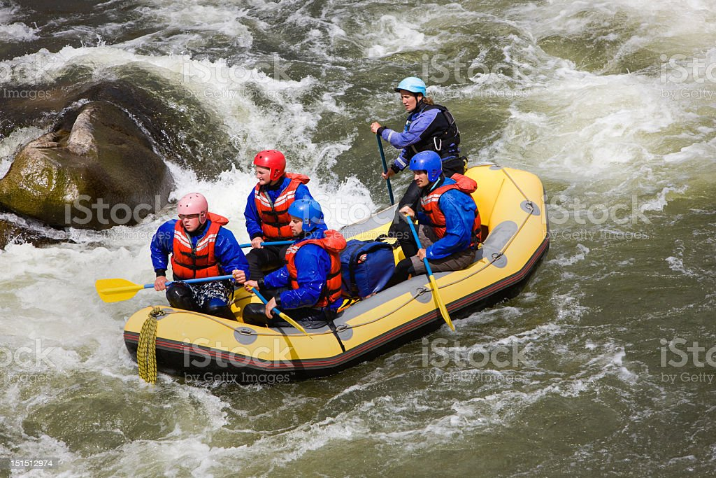 River Rafting In Colorado Rockies royalty-free stock photo