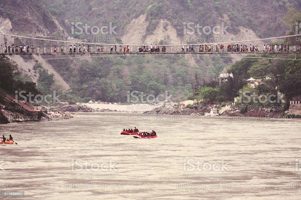 River rafting in Rishikesh city, India stock photo
