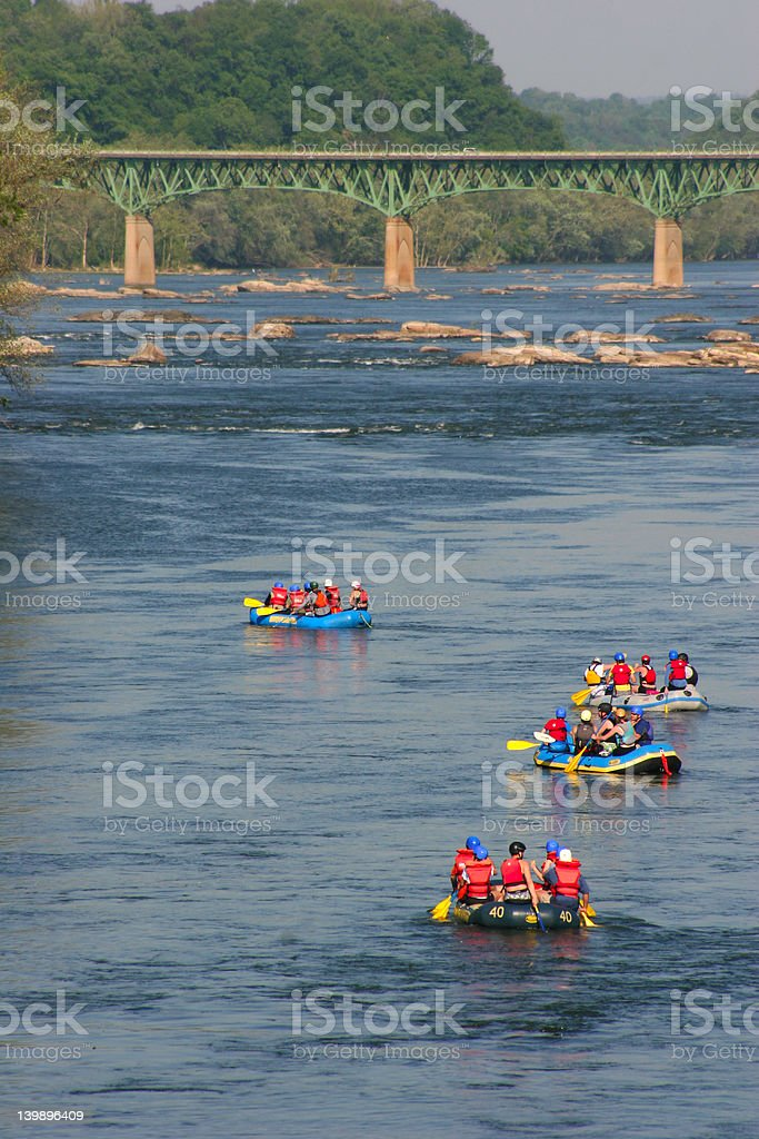 River Rafting royalty-free stock photo