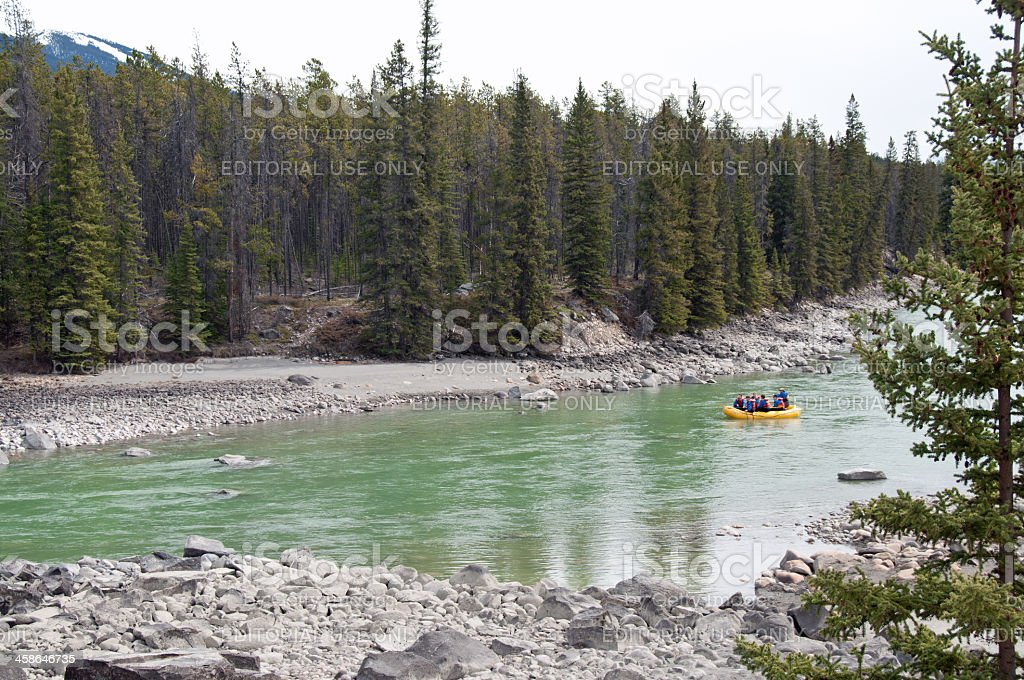 River Rafting Scenic royalty-free stock photo
