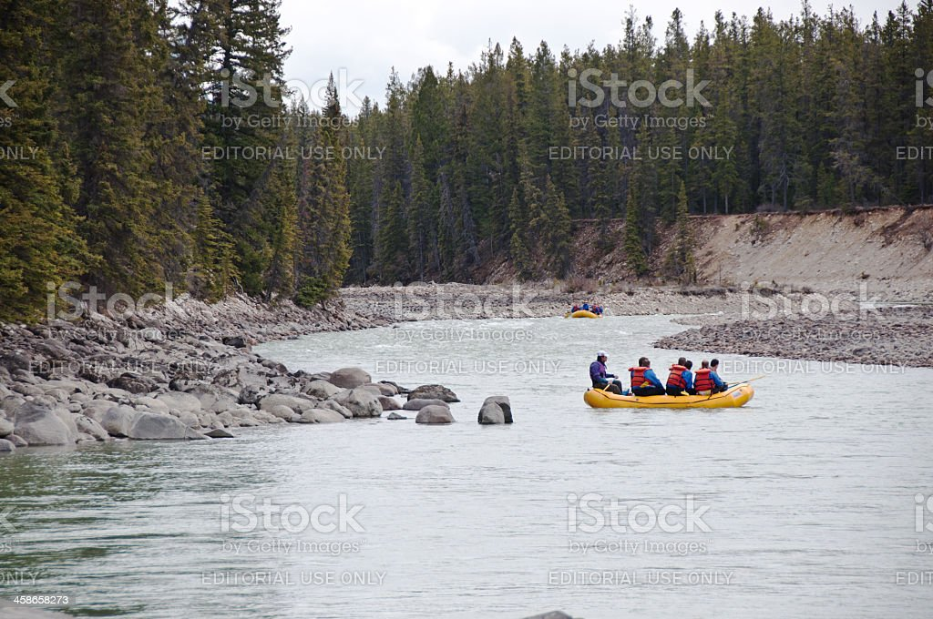 River Rafting ... Two Rafts royalty-free stock photo