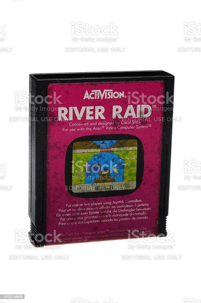 River Raid Atari 2600 Game Cartiridge stock photo