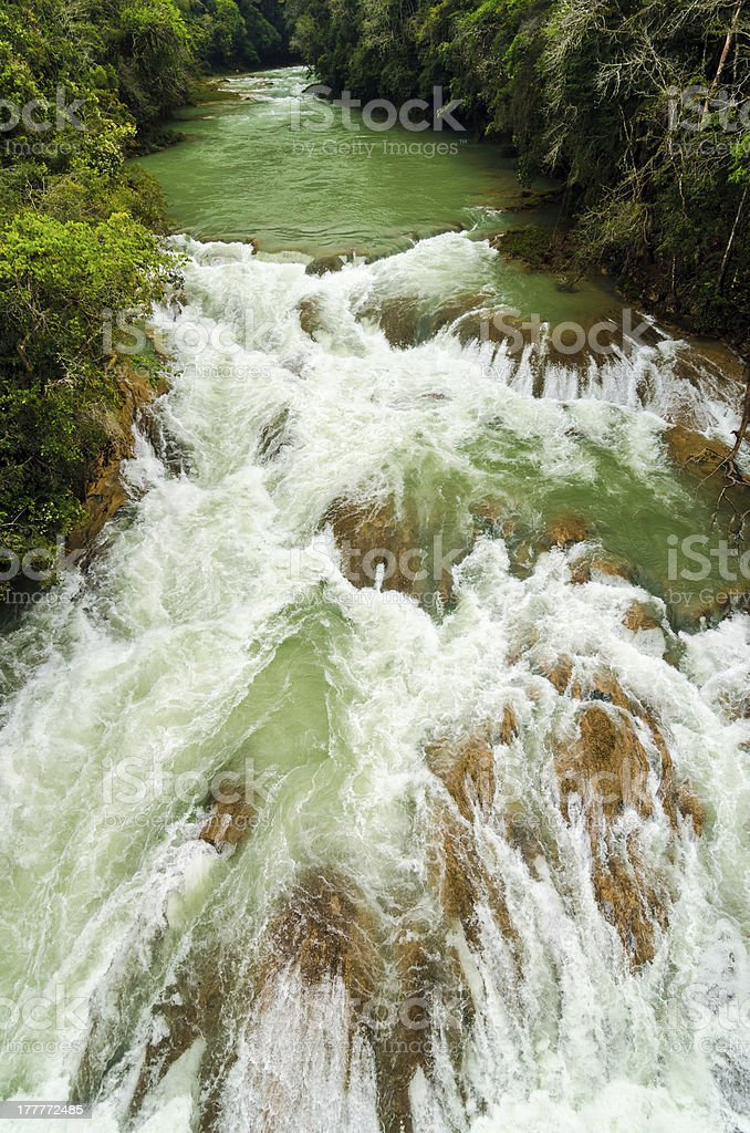 River Rapids in Chiapas, Mexico royalty-free stock photo