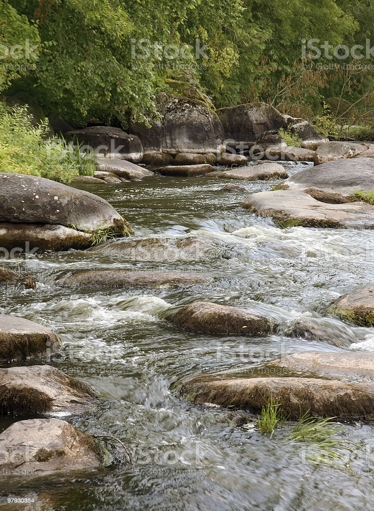 River rapids royalty-free stock photo
