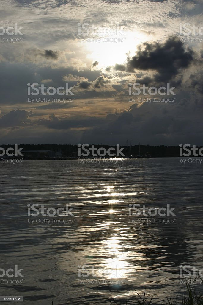 river reflection of sunlight royalty-free stock photo