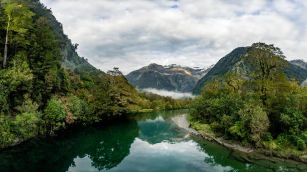 River Reflection stock photo
