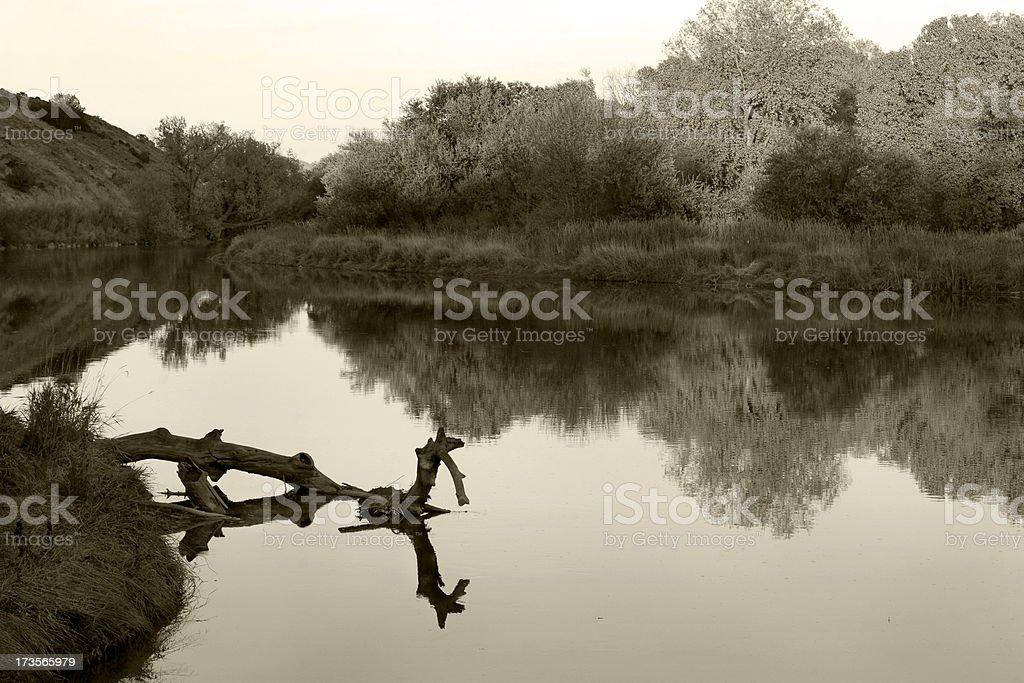 River Reflection royalty-free stock photo