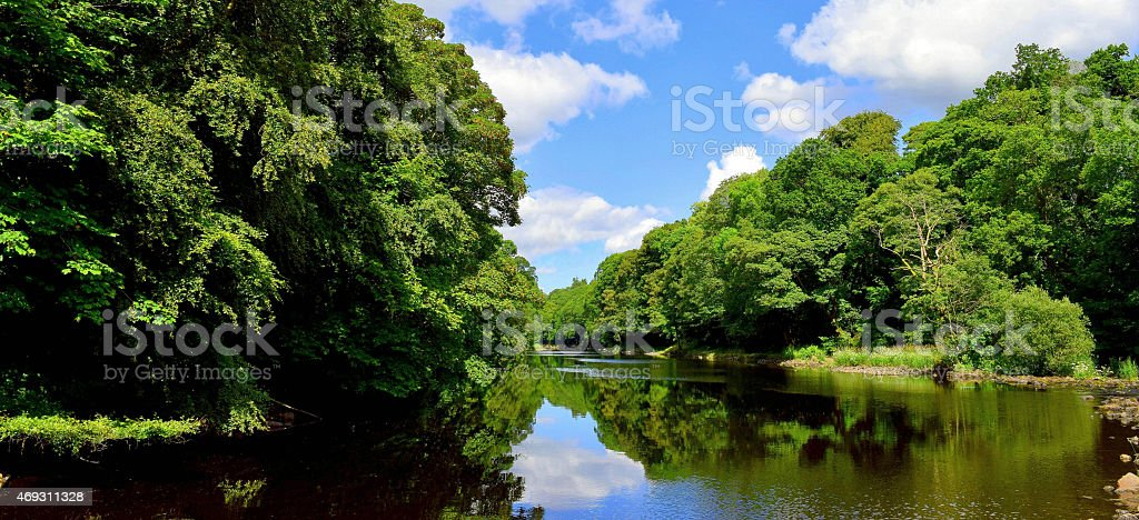 River reflections in Panorama stock photo