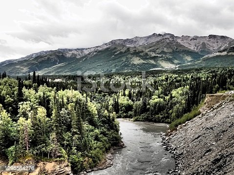 istock River, Riverbed, Mountains  - Alaska 1295564276
