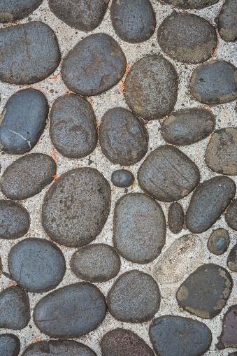 River Rock Stone Paver Pattern Background
