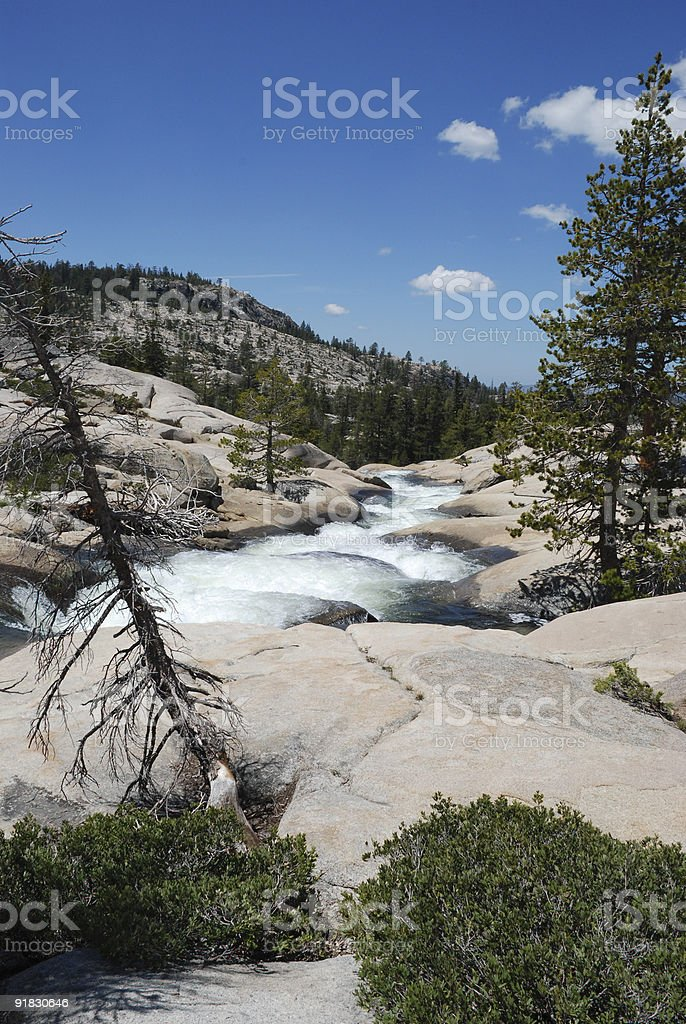 River, Rocks, and Trees royalty-free stock photo