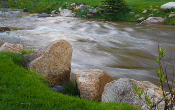 River running through Rocky Mountain National Park River running through Rocky Mountain National Park rocky mountain national park stock pictures, royalty-free photos & images