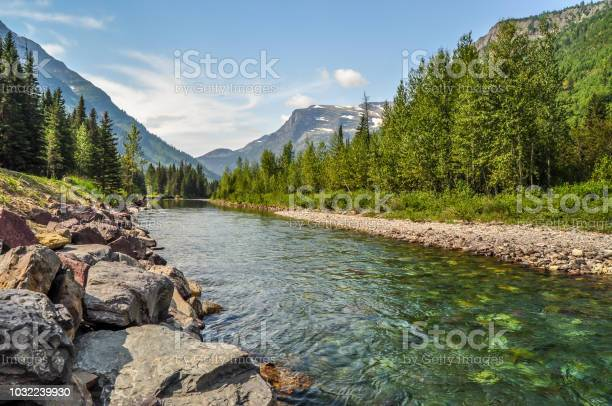 Photo of A River Runs Through Glacier National Park in Montana