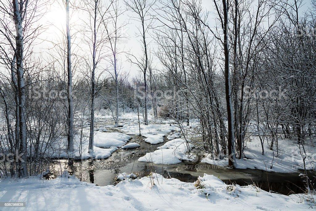 River Runs Through stock photo