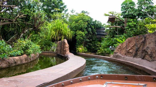River Safari, Singapore Zoo stock photo
